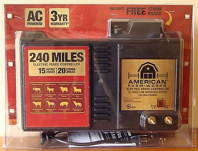 American FarmWorks Zareba 240 Miles AC Low Impedance Electric Fence Controller