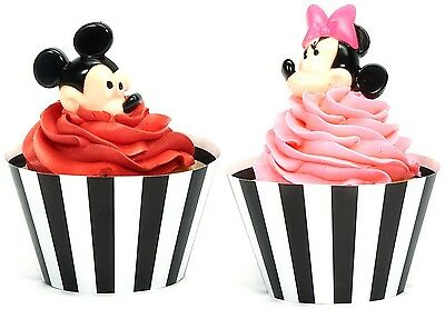 Disney Mickey and Minnie Mouse Cupcake Wrapper and Pick Kit