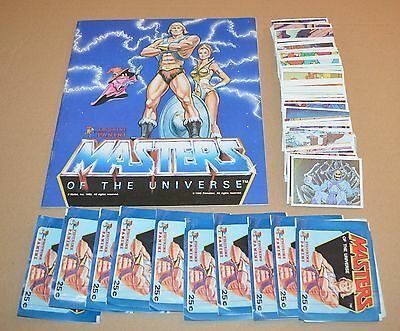1983 PANINI Masters Of the Universe Empty Album + Complete Set of 216 Stickers++