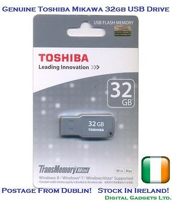 Genuine Toshiba Mikawa 32GB USB Flash Drive Key