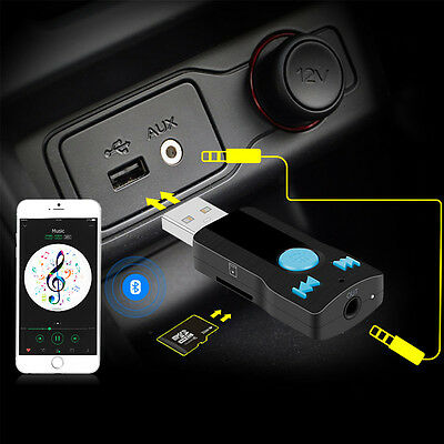 Hands-Free Bluetooth Receiver 3.5mm AUX Car Music Stereo TF Card Reader MA1067