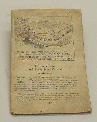 1918 Rare Scouting Catalog for Boy Scouts of America for Scout Officials. WWII T