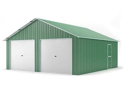 Double Garage 6.4m x 7.2m Widespan Rivergum Garages Steel NEW