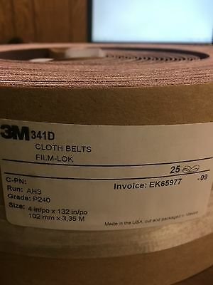 "3M. 341D. cloth belt. 4"" x 132"". P240 grit   PACK OF 25"