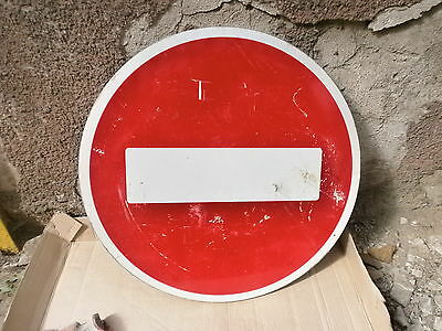 Real vintage metal road sign USSR