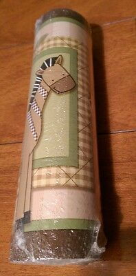 New Lambs & Ivy Baby Cocoa Nursery Decor Wall Paper Border NWT
