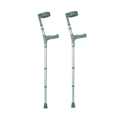 Adjustable Hand Grip Height, Elbow Crutches Ergonomic Walking Mobility Aid, Pair