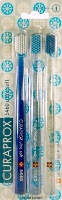 Pack of 3 toothbrushes - CURAPROX CS 5460 ULTRA SOFT ! LIMITED WINTER EDITION !