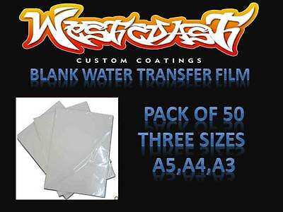 Hydrographic Blank Film Water transfer printing film blank A3