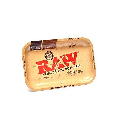 "RAW Mini Rolling Tray Metal Cigarette Rolling Tray 7""x5"""