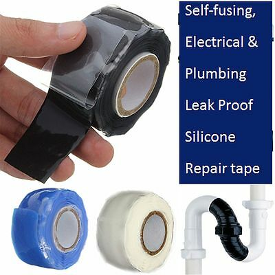 NEW WATERPROOF SILICONE Repair Tape Permormance Bonding Self Fusing Wire  Hose