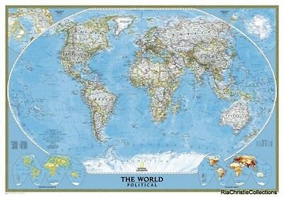 World Classic Mural Tubed National Geographic Maps Sheet map New Book Free UK De