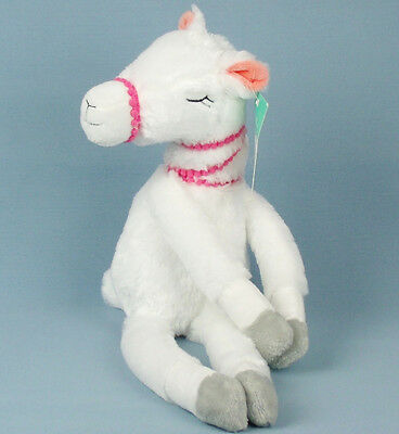 PILLOWFORT PLUSH White LLAMA Long Legs Velcro Hooves