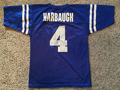 VTG Logo 7 Indianapolis Colts Jim Harbaugh  4 NFL YOUTH Jersey Sz M 10- d75e41554