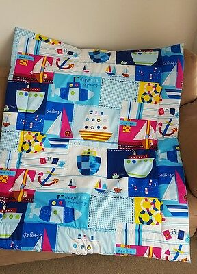 Nautical Cot Quilt or Playmat Handmade NEW