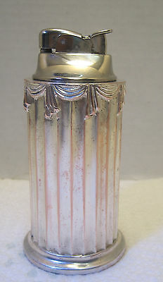 Silverplate Evans column lighter  parts or repair does work but as is