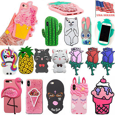 3d Cases For Iphone 6 8 Rubber 7 Cute Cartoon Animal 5S Cover New Doll Silicone