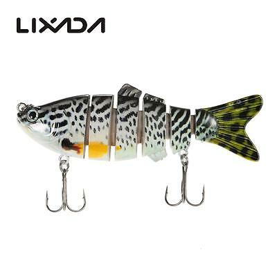Lifelike 6 Jointed Minnow Fishing Lures Deep Diving Bass Murray Barra bream O0A2