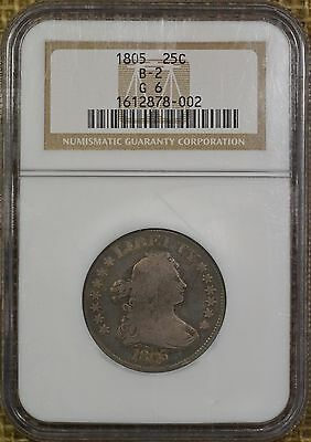 1805 25C NGC G6 Draped Bust Quarter - Original - #NumismaticallyYours