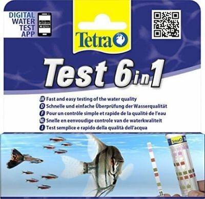 Aquarium 6 In 1 Test Strip For Fish Tank Water Quality Checker Freshwater Tester