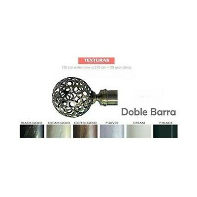 TEXTURAS BASIC HOME Barra Forja Universal Extensible DOBLE BOLA