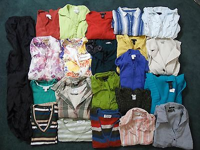 22 pc BRAND NAME LOT Plus Womens 1X 2X 18-20 22-24 Shirts Pants Sweaters