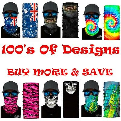 Fishing Face Mask Shield Headwear Bandana Biker Neck Tube Scarf Skull Head uv