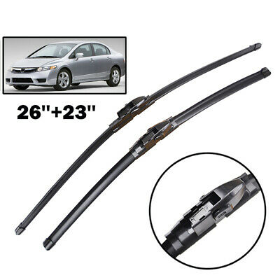 2PCS/Set Front Windshield Flat Wiper Blades Fit For Honda Civic 2005 2006 -2011