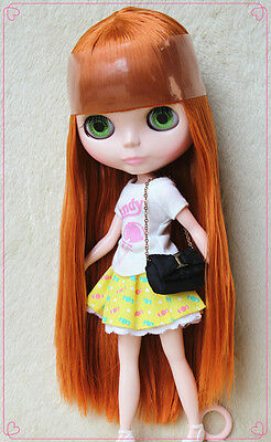 """12""""Takara Neo Blythe Dolls from Factory Nude Dolls Chocolate color straight hair"""