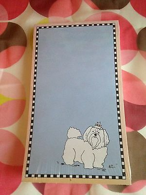 """Dog Collection Notepad by Cross My Heart 7"""" Long 4"""" Wide Style # DP12"""