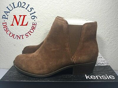 Kensie Women's Garry Bootie Short Ankle Boots Suede Brown - Various Sizes ! ! !
