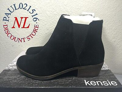 Kensie Women's Garry Bootie Short Ankle Boots Suede Black - Various Sizes ! ! !