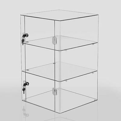 Clear Acrylic Display Cabinet Large Box Case Cube Stand Shop Counter Retail - UK