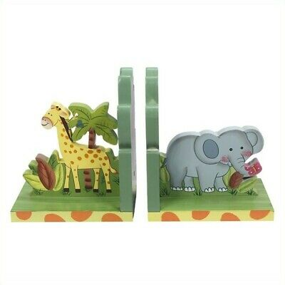 Fantasy Fields Hand Carved Sunny Safari Set of Bookends