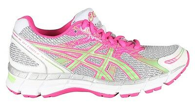 Asics Women's GEL-Excite 2 Running Shoes with Rearfoot Gel - White/Mint/Hot Pink