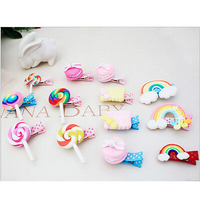 1Set Cute Baby Girls Hairpin Resin Stereo Candies Hair Clips Hair Accessories UK