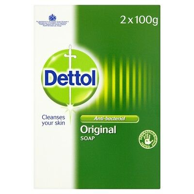 Dettol Original Soap Antibacterial Bar Twin Pack 2 x 100g cleans and protects
