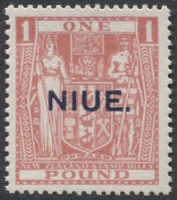 NIUE KGV 1931 Issue Postal Fiscal £1 Scott 52  SG54  Never Hinged