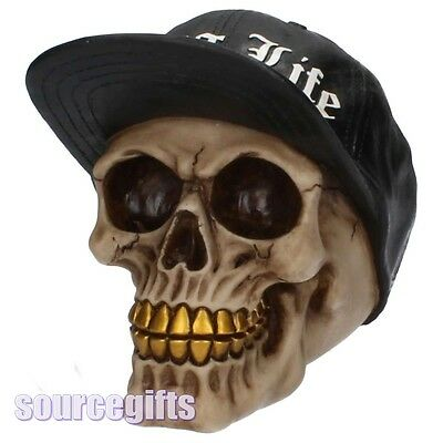 New * Thug Life * Skull Ornament Figurine Gothic Gift From Nemesis Now  K3108