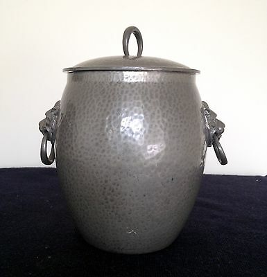 Tudric Pewter For Liberty (London) Biscuit Barrel Mint Condition.