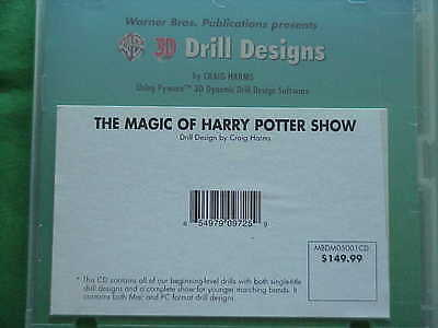 MARCHING BAND~~3D DRILL Designs~~Harry Potter Show~~Warner Brothers  Publications