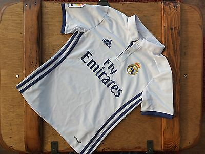 New Genuine Real Madrid 2016/17 Home Shirt Junior Boys  XXS S M L - Shop Rejects