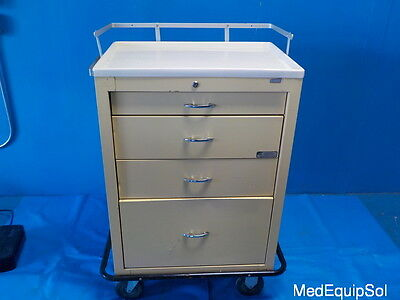 American Hospital Supply Yellow Medical Cart