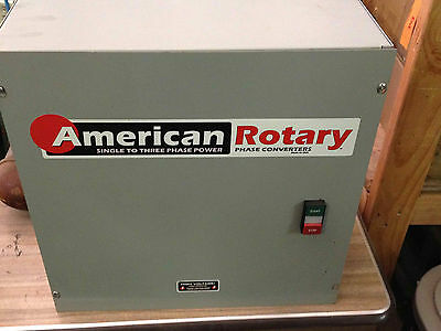 American Rotey 25HP Rotary Phase Converter Control Panel