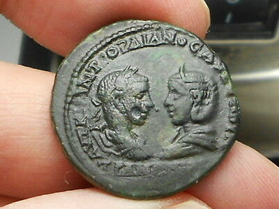 Gordian III and Tranquillina Mesembria VF AE27