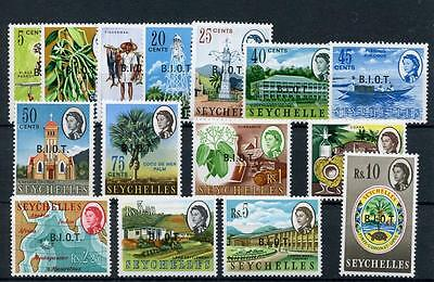 British Indian Ocean Territory 1968 set SG1/15 MNH