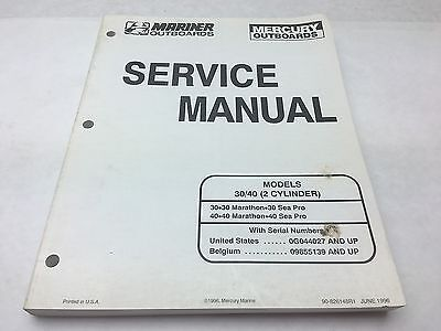 mercury mariner 30 40 hp 2 cylinder service manual 0794 10 50 rh picclick com Mercruiser Replacement Parts Mercruiser Cooling System