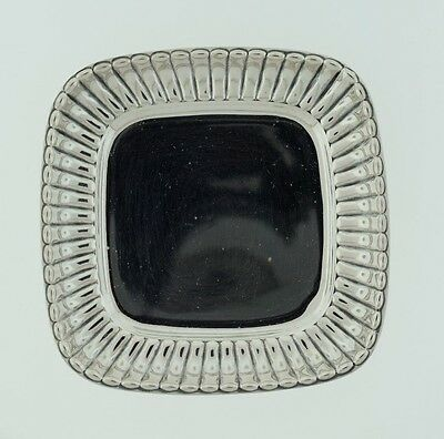 Webster Sterling Silver Square Scalloped Edge Coaster Candy Nut Dish Butter Pats