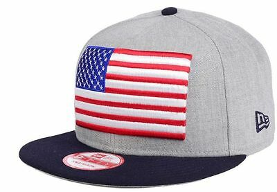 f88f0550718 United States of America New Era 9FIFTY USA American Flag Adjustable Cap Hat