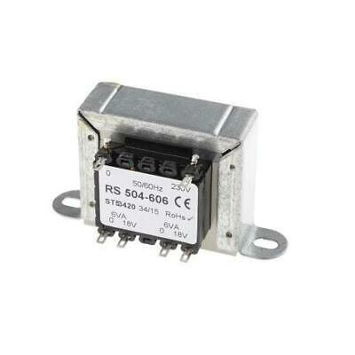1 x RS Pro 12VA 2 Output Chassis Mounting Transformer 10-5854, 18V ac